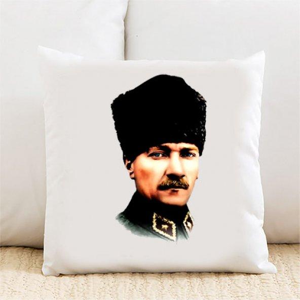 Atatürk Kişiye Özel Yastık Kılıfı Pi35