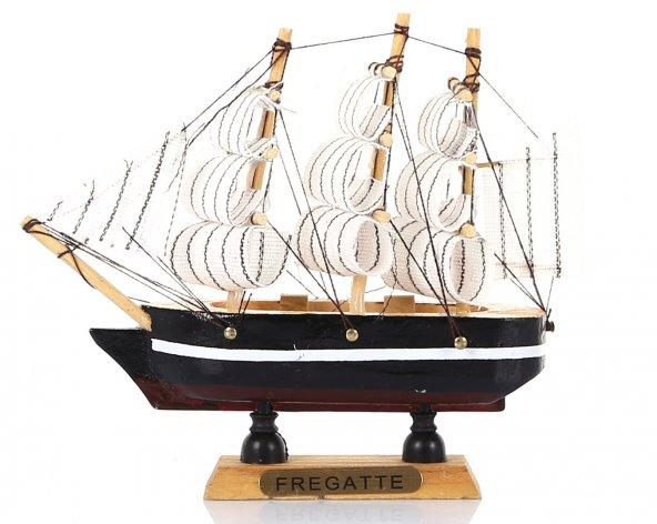Yelkenli Ahşap Gemi - Siyah (C) No : 1