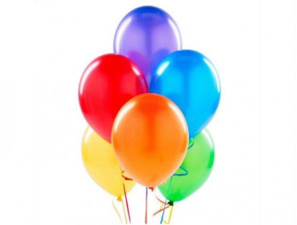 Renkli Balon - 25 Adet