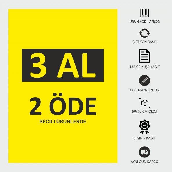 İndirim Reklam Promosyon Kampanya Market ve Mağaza Fiyat Afişi Görsel Sarı Kuşe Kağıt 50x70CM 1 ADET