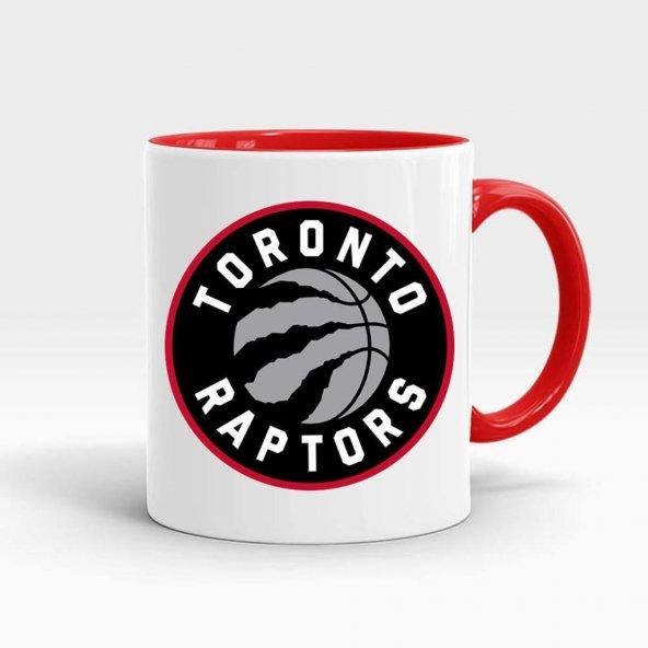 Toronto Raptors Baskılı İçi ve Kulpu Kırmızı Renkli Kupa