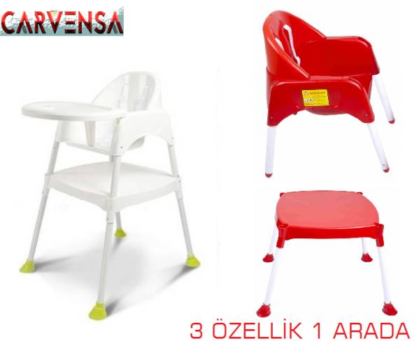 CARVENSA PERİLLA Pratik Mama Sandalyesi beyaz-ÜCRETSİZ KARGO