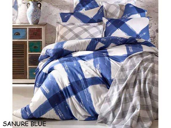 BELLA HOME RANFORCE TEK KİŞ. UYKU SETİ SANURA BLUE