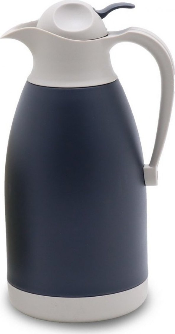 Cooker Trend Renkli Çift Kat Çelik Termos 2 Litre Siyah CKR-2026