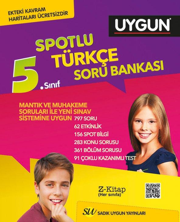 5.Sınıf Türkçe Spotlu Soru Bankası Sadık Uygun Yayınları
