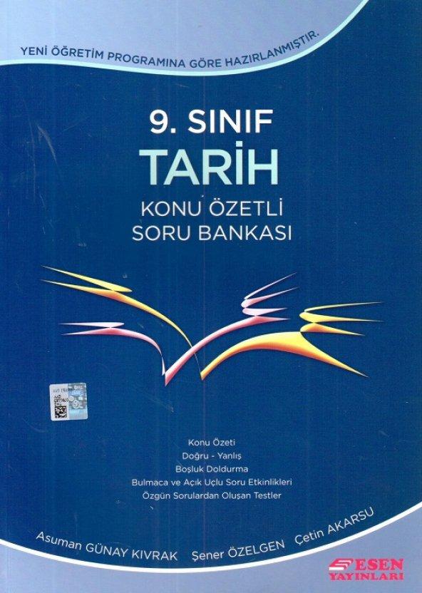 9. Sınıf Tarih Konu Özetli Soru Bankası Esen Yayınları