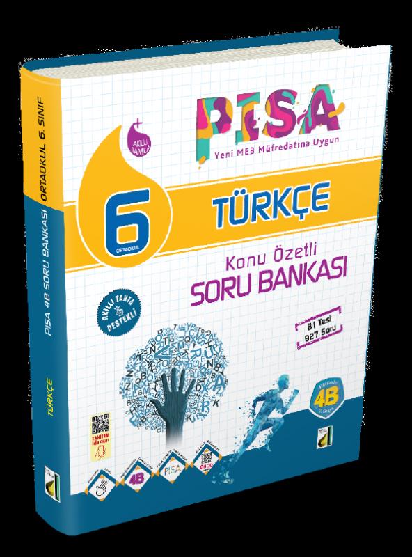 6. Sınıf PİSA 4B Türkçe Soru Bankası Damla Yayınevi