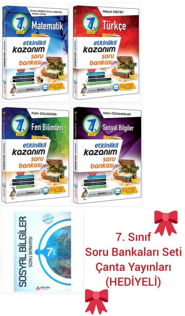7. Sınıf Soru Bankaları Seti Çanta Yayınları (HEDİYELİ)
