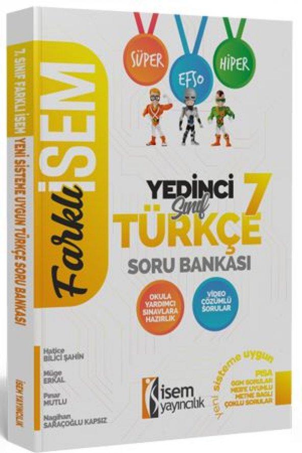 7. Sınıf Türkçe Soru Bankası İsem Yayıncılık 2020