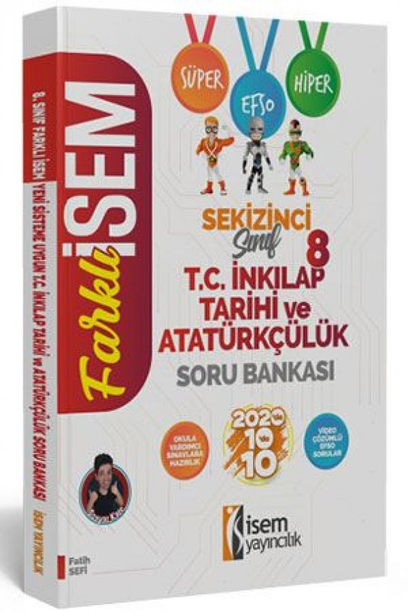 LGS 8. Sınıf T.C. İnkılap Tarihi Soru Bankası İsem Yayınları 2020