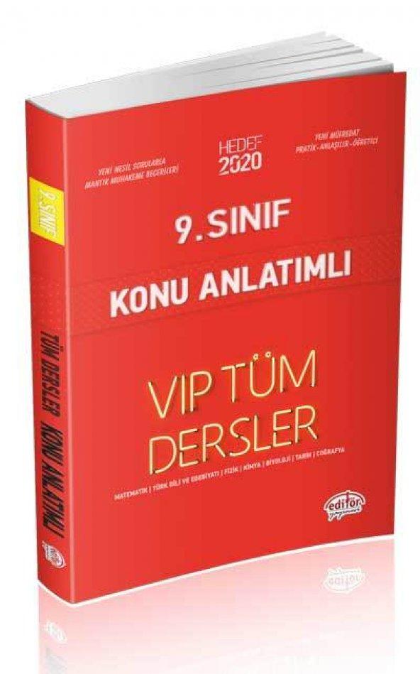 9. Sınıf VIP Tüm Dersler Konu Anlatımlı Editör Yayınları