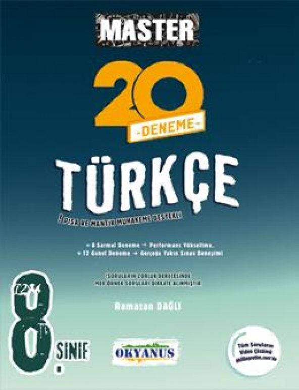 8. Sınıf Master 20 Türkçe Denemesi Okyanus Yayınları