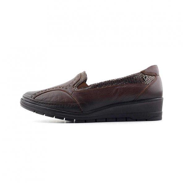 Forelli 25109 Anatomik Hakiki Deri Kadın  Ayakkabı-Kahverengi