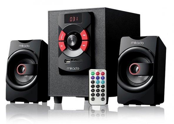 Mikado MD-216BT 2+1 8w +3wx2 USB+SD+FM Destekli Bluetooth Speaker