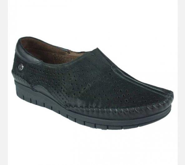 Forelli 23417 Deri Ortopedik Comfort Bayan Ayakkabı Siyah 38,5 Numara