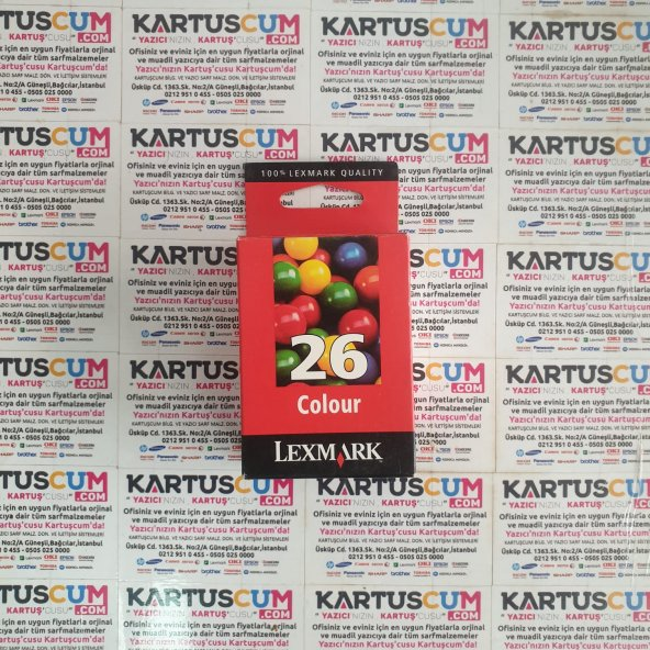 LEXMARK 26 10N0026 RENKLI ORJINAL KARTUŞ X1100/1130/1140/1240