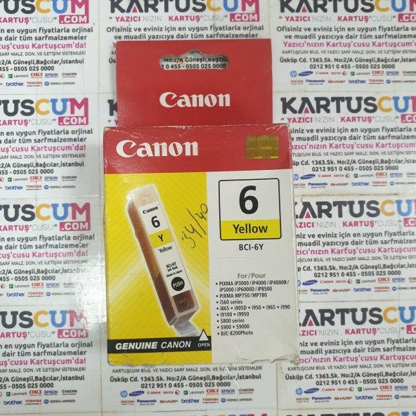 CANON BCI-6Y SARI ORJINAL KARTUŞ IP-3000/4000/5000/6000