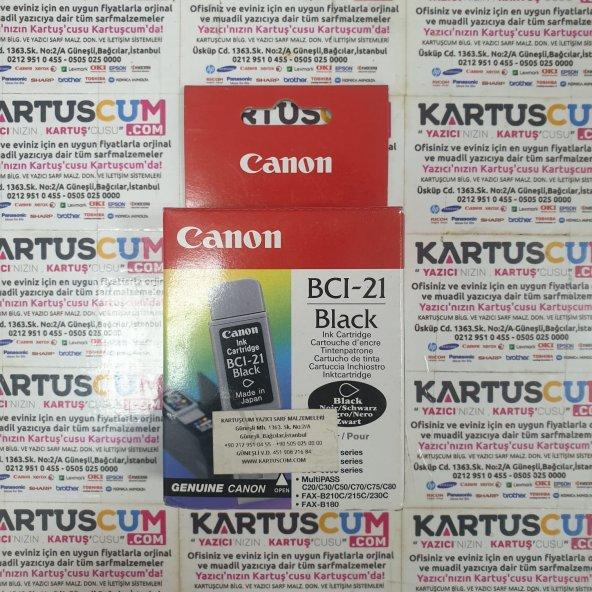 CANON BCI-21BK SIYAH ORJINAL KARTUŞ BJC-2000/2100/4300/4650/5500