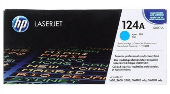 HP 124A Q6001A MAVI ORJINAL TONER 1600/2600/2605/CM1015/CM1017