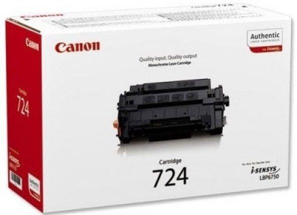 CANON CRG-724 SIYAH ORJINAL TONER LBP-3580/6750/6780/