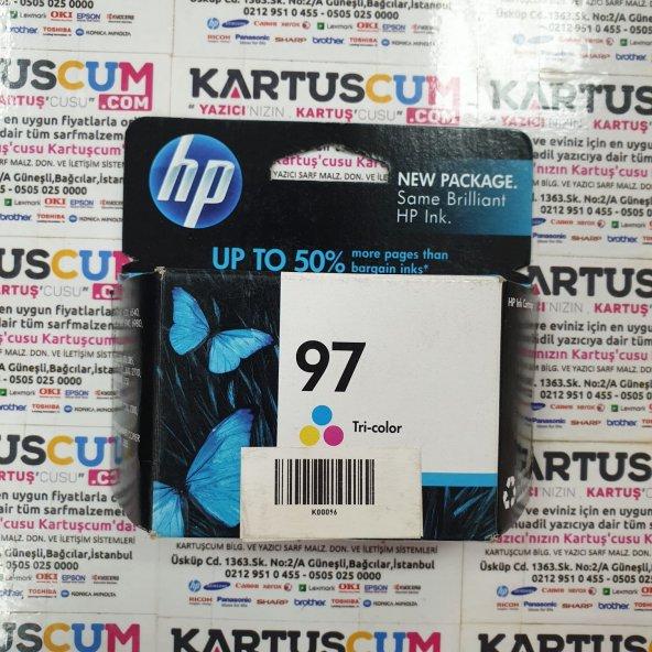 HP 97 C9363W/C9363WN RENKLI ORJINAL KARTUŞ - ESKI TARIHLI