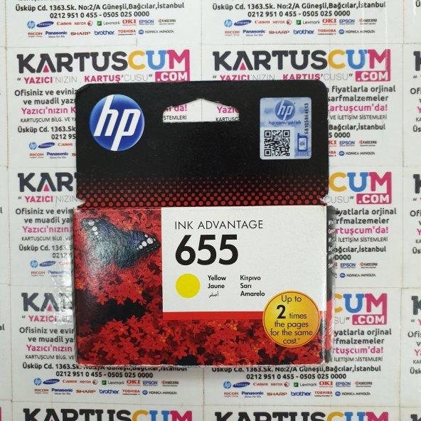 HP 655 CZ112A/CZ112AE SARI ORJINAL KARTUŞ - ESKI TARIHLI
