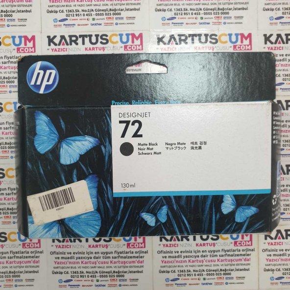 HP 72 C9403A MAT SIYAH ORJINAL KARTUŞ 130ML - YENİ TARİHLİ