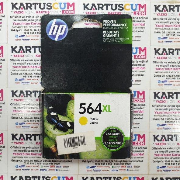 HP 564XL CB325W/CB325WN SARI ORJINAL KARTUŞ - ESKI TARIHLI