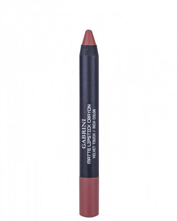 Gabrini Matte Lipstick Crayon Velvet Touch 08