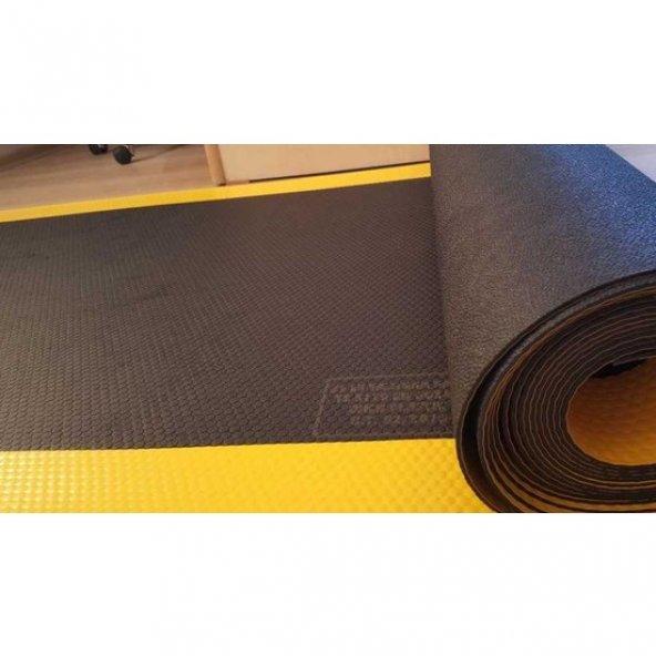 Karbonplast 2 mm Yalıtkan Paspas Siyah Şeritli 350 x 100 cm ( Boy