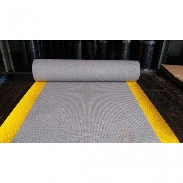 Karbonplast 2 mm Yalıtkan Paspas Gri Şeritli 150 x 100 cm ( Boy x