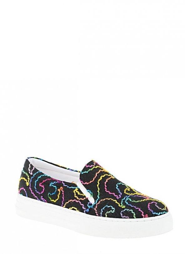 221902SİYAH BAYAN Casuel Ayakkabı
