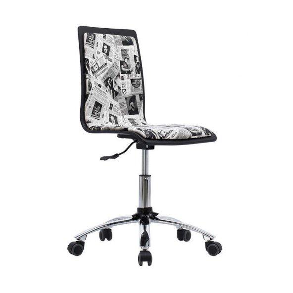 Adore Pop Art Çalışma Sandalyesi CHR-020-SB-1 Siyah-Beyaz
