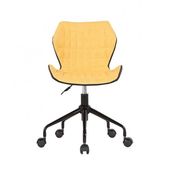 Adore Handy Mate Retro Çalışma Sandalyesi CHR-036-FS-1 Sarı