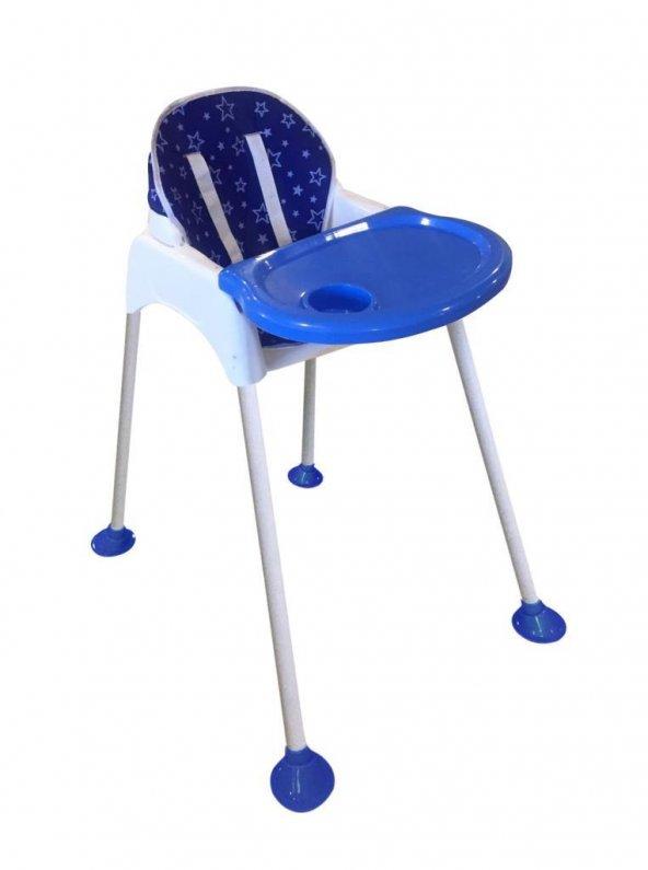 Minigo High Chair Ped Hediyeli Mama Sandalyesi - Mavi