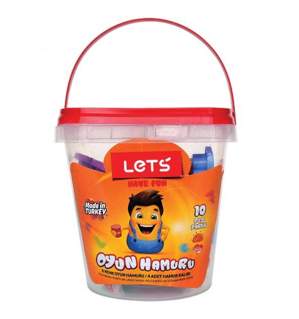 Lets Oyun Hamuru 6 Renk (Kalıp Hediyeli) / L8700