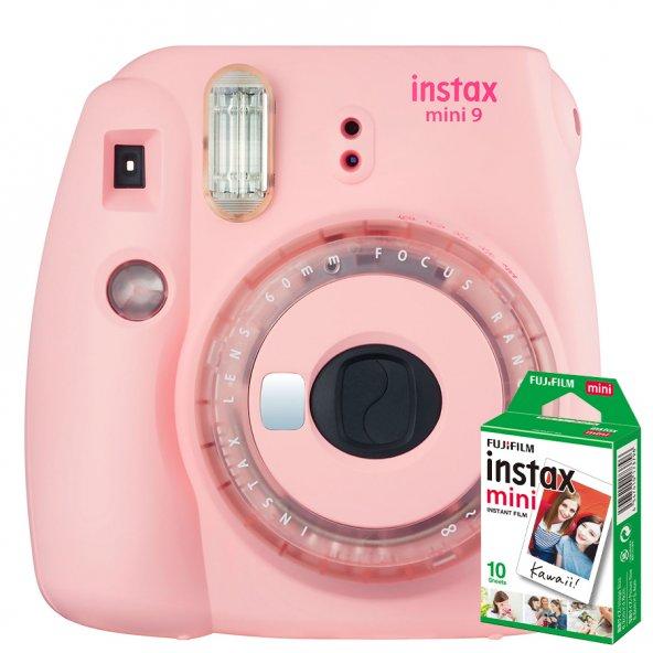 Fujifilm instax Mini 9 +10'lu Film+Askı (Toz pembe Limited Edition)
