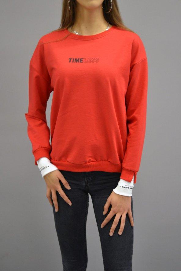 Timeless Kırmızı Sweatshirt