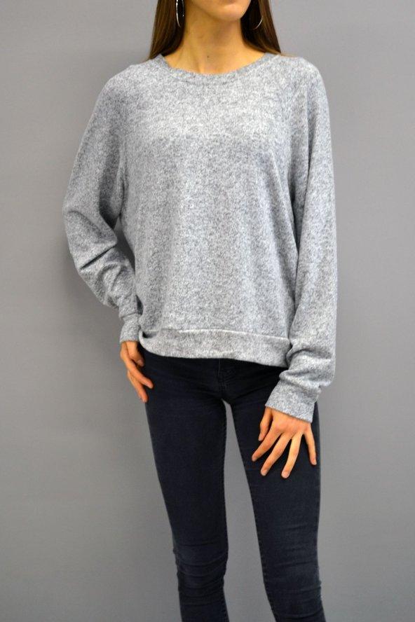 Yumoş Gri Sweatshirt