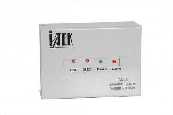 İTEK TA-4 asansör deprem yangın sensörü