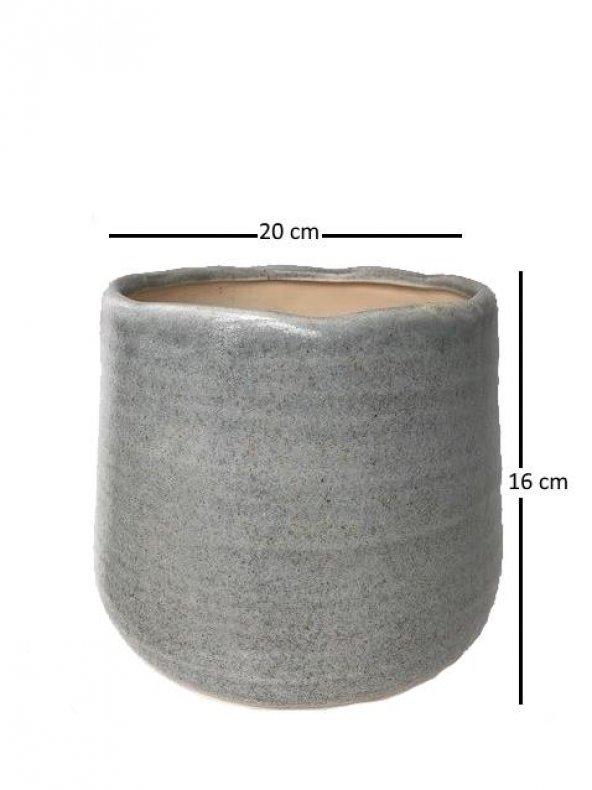 Saul Pot Açık Mavi Saksı H16xD20 CM
