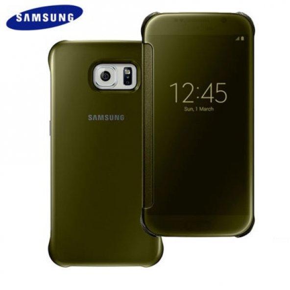 Samsung Galaxy S6 Orjinal Clear View Cover EF-ZG920BFEGWW