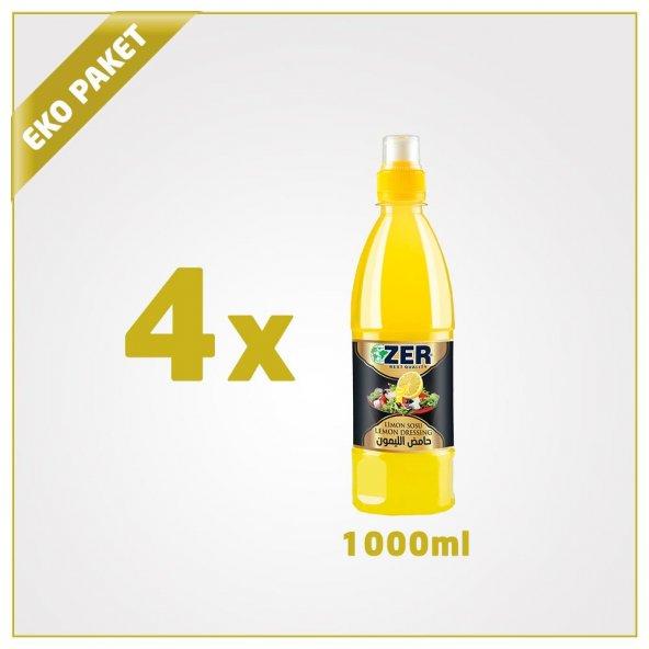 Zer Limon Sosu 1000 ml x 4 Pet Şişe