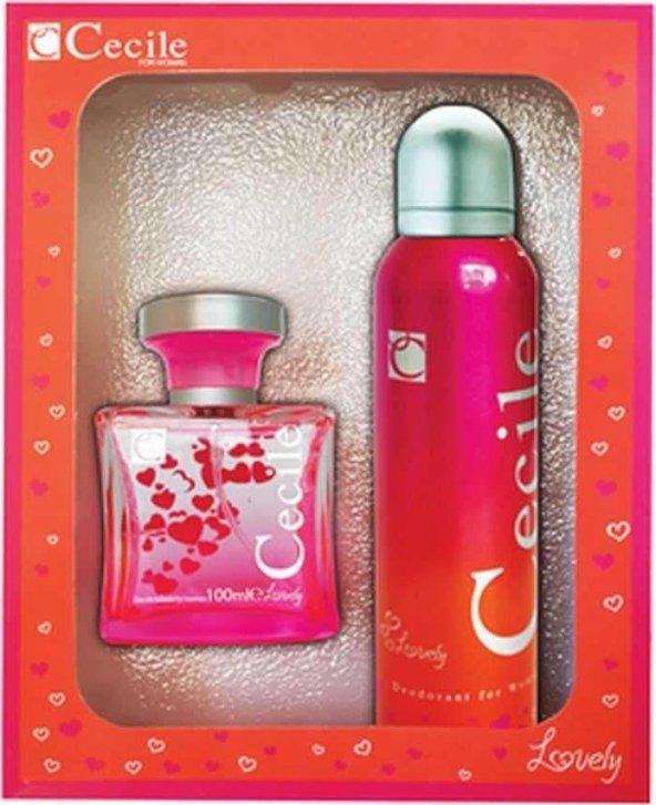 Cecile Lovely Edt 100 Ml Kadın Parfüm + 150 Ml Deodorant Set