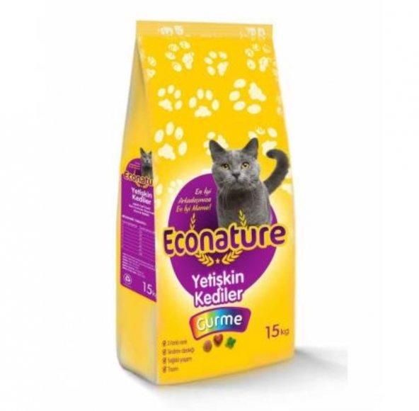 Econature Gurme Yetişkin Kedi Maması-15KG