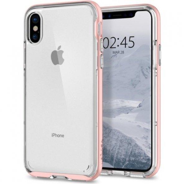 Spigen Apple iPhone X Kılıf Neo Hybrid Crystal Blush Gold - 057CS
