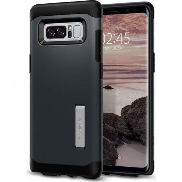 Spigen Samsung Galaxy Note 8 Kılıf Slim Armor Metal Slate - 587CS