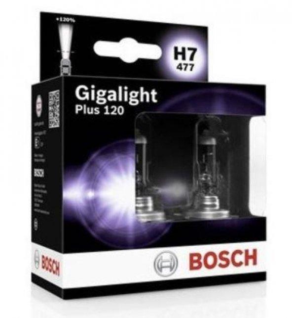 Bosch Gigalight Plus 120 H7 Ampül 2li Set