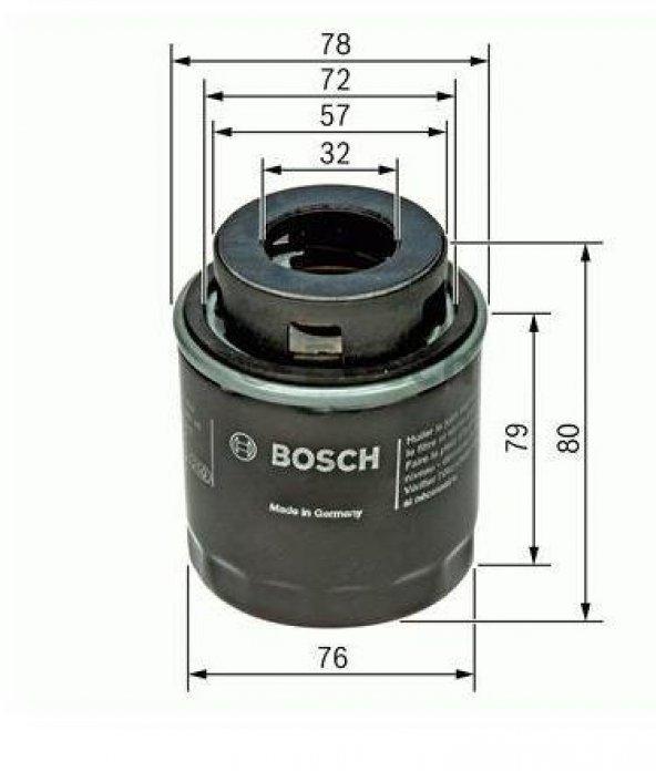Volkswagen Golf 5,6 Yağ Filtresi Bosch 1.4TSI