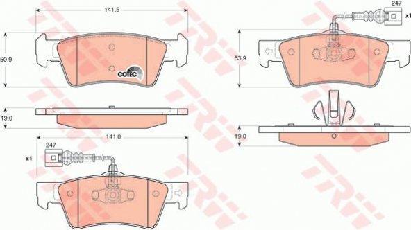 ARKA BALATA TOUAREG 05- 2,5 R5TDI-3,0 V6/T5 03-10 TRW